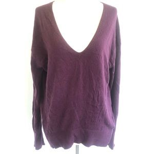 Express V Neck Long Sleeve Hi Lo Hem Sweater XS